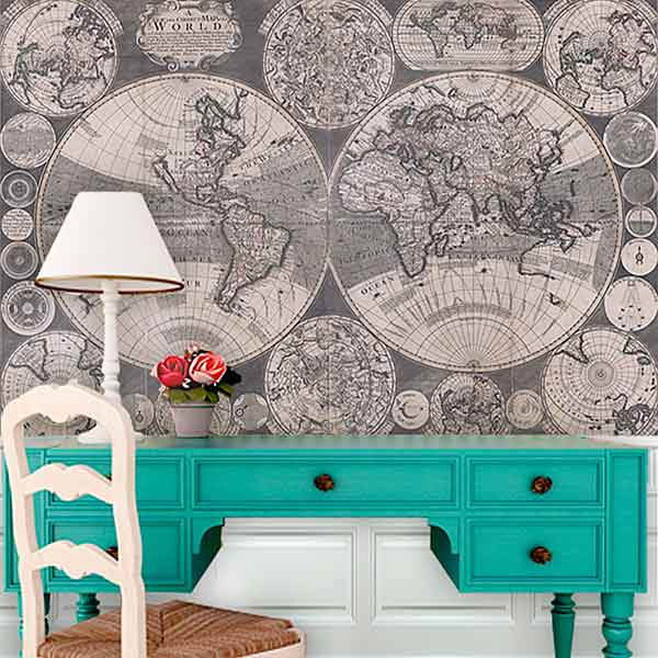 Finishing Touches: Map it out wallpaper from the TOH Top 100 Best New Home Products 2013