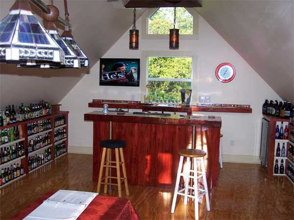 reader remodel contest home bars after remodel garage with beer lining walls