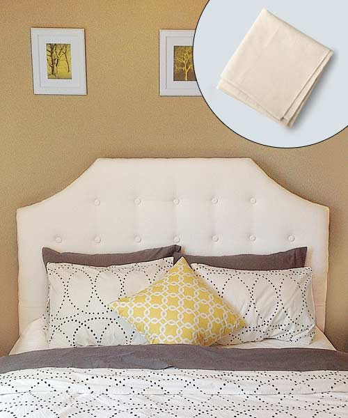 tufted headboard made of drop cloth, batting and buttons, reader remodel contest 2013