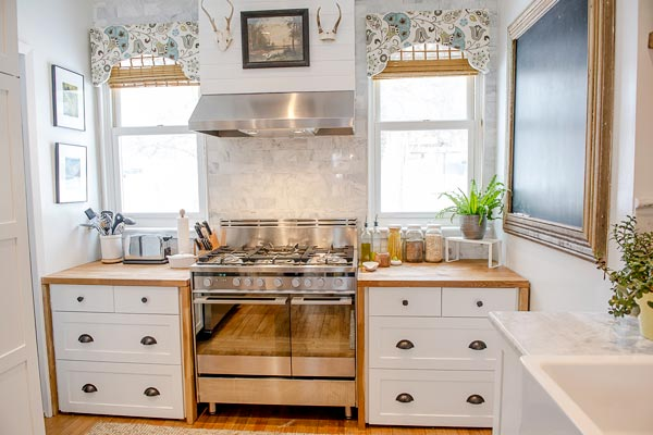 Vintage Schoolhouse Style: After from this old house's Best Kitchen Before and Afters 2013