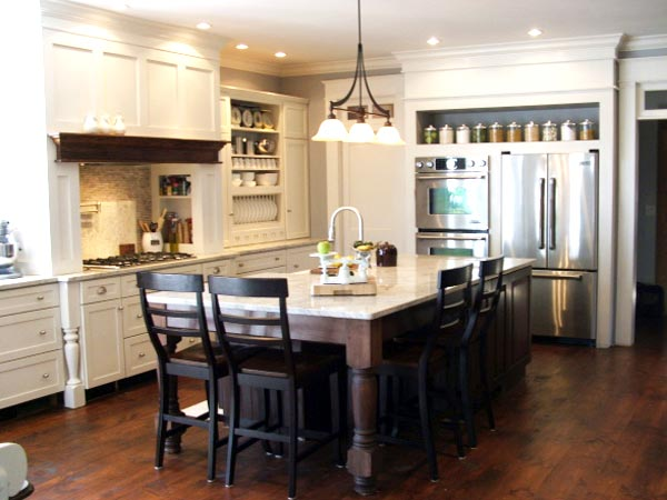 Zones for Cooking, Baking, Cleanup, and Storage: After from this old house's Best Kitchen Before and Afters 2013