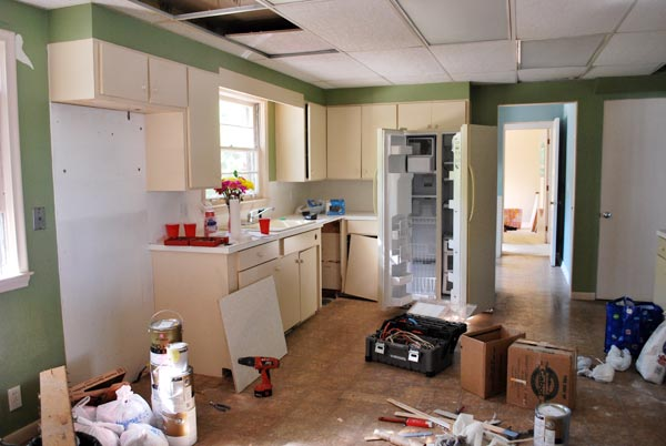 The First of Many Projects: Before from this old house's Best Kitchen Before and Afters 2013