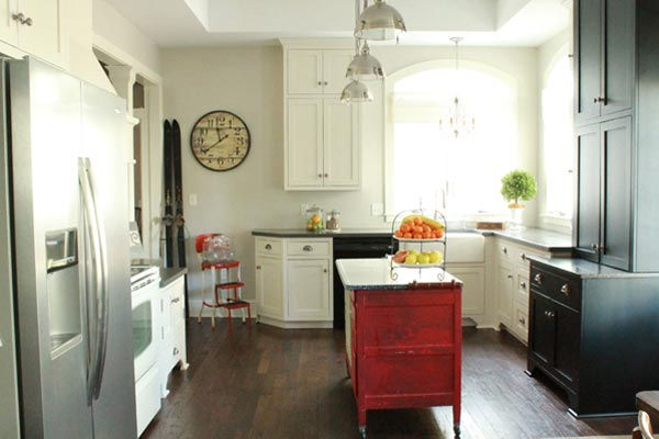 Creating an Industrial Farmhouse Kitchen: After from this old house's Best Kitchen Before and Afters 2013