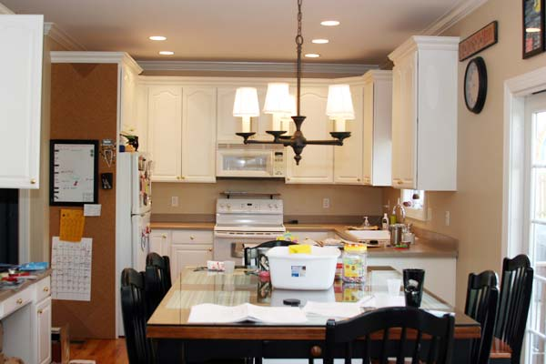 Chalkboard Wall in Organization Area: Before from this old house's Best Kitchen Before and Afters 2013