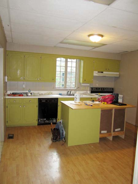 From Dull to Elegant Farmhouse: Before from this old house's Best Kitchen Before and Afters 2013