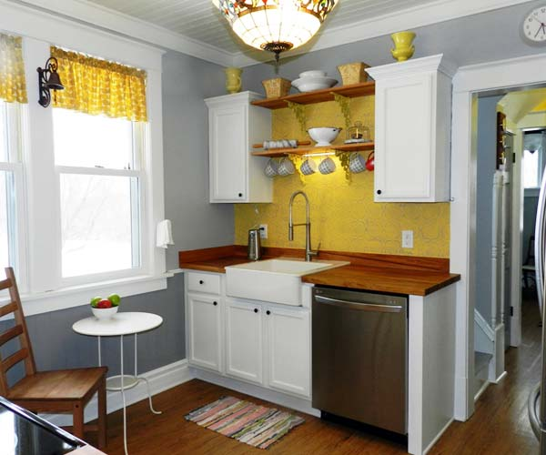 Reminiscent of a Scandinavian Farmhouse: After from this old house's Best Kitchen Before and Afters 2013