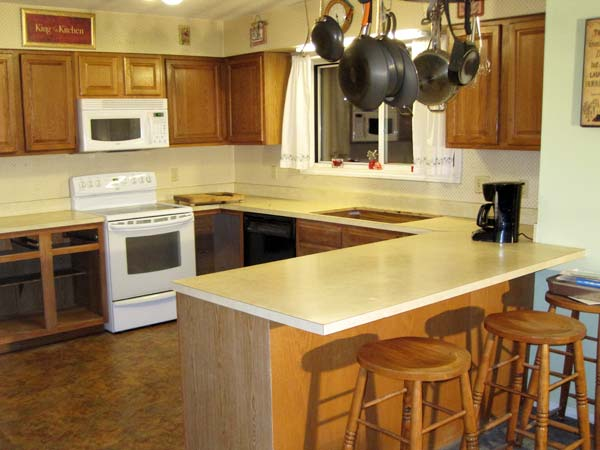 Color Change: Before  from this old house's Best Kitchen Before and Afters 2013