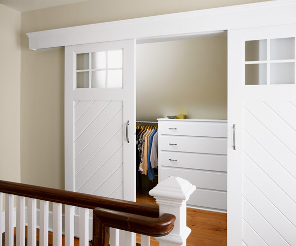 2013 reader remodel contest master suite winner in attic after homeowner-made sliding barn-style doors hide walk-in closet