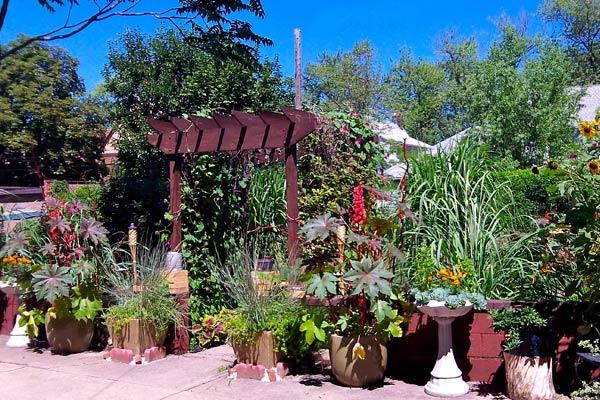 Rob Lynch's garden area pergola in Niagara Fall, NY