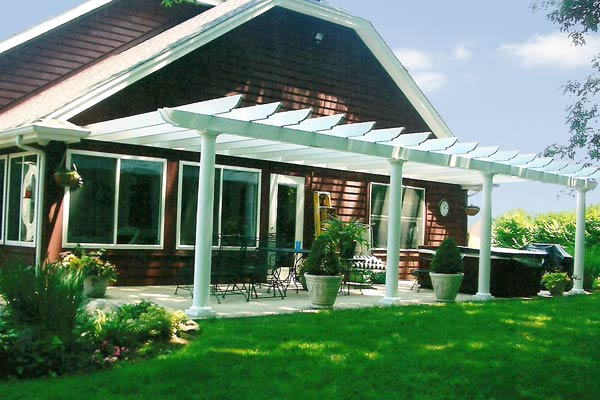 John R. Folck's pergola attached to a patio in Centerville, OH