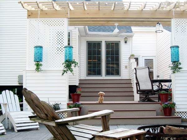 JoEllen Reeck's deck pergola in Staples, MN