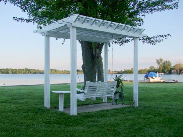 Michael Renno's pergola with outdoor swing in Fort Wayne, IN