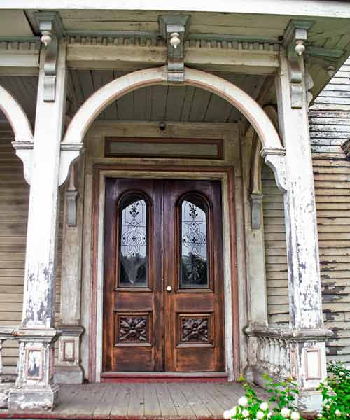 save this old house frankfort main italiante and second empire house style entry with archways, double doors with etched glass