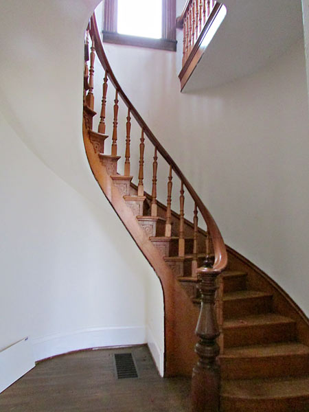 save this old house hope indiana queen anne staircase with original balustrade and carved stair brackets