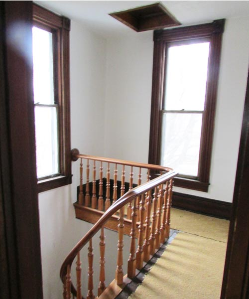 save this old house hope indiana queen anne staircase landing