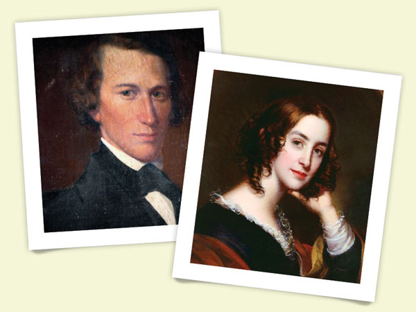 oil portraits of the first owners of the home, Charles and Mary Rannells.