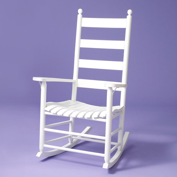 outdoor porch rockers ash and hickory, white, troutman