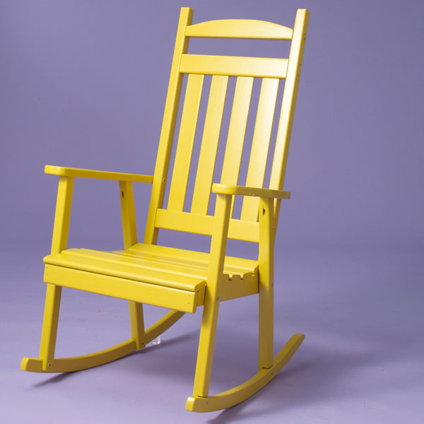 outdoor porch rockers pine, yellow, a&l furniture