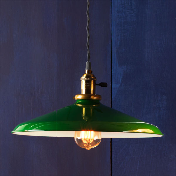 Brass Socket example of Factory-style pendant lights
