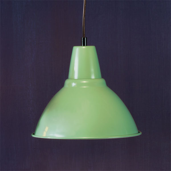 Plug-in Style example of Factory-style pendant lights