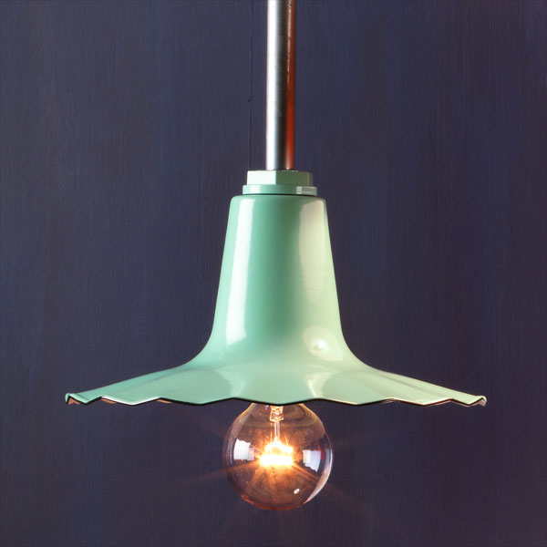 Undulating Edge  example of Factory-style pendant lights
