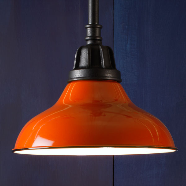 Rigid Rod example of Factory-style pendant lights