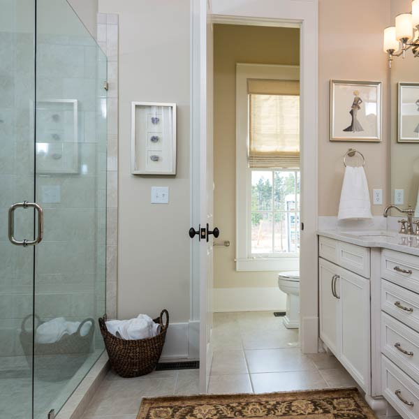 southern living this old house all american cottage master bath with walk-in shower