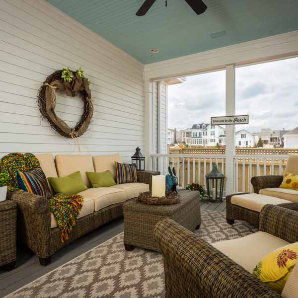 southern living this old house all american cottage screened porch with outdoor furniture