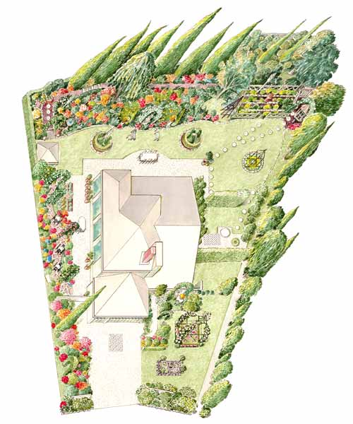 garden planning romantic garden illustrated diagram