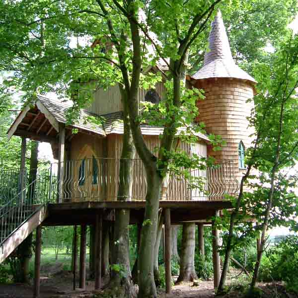 fernie castle treehouse in united kingdom