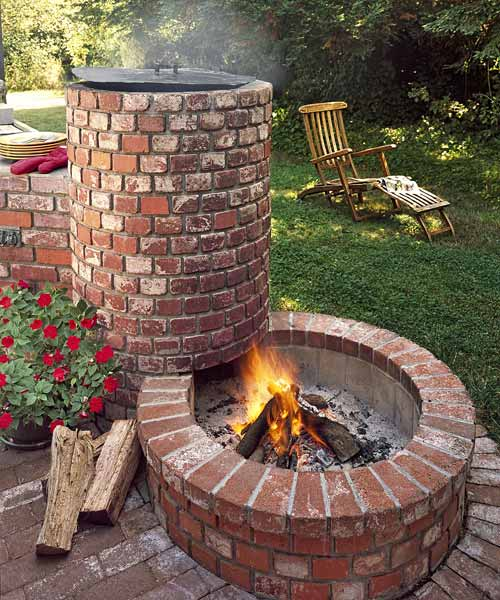 Beyond the basic grill smoker combo all about built in for Easy diy fire pit with grill