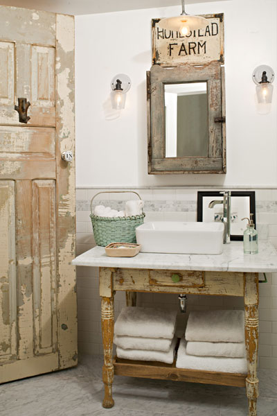 Repurposed character half baths full of style this old for Rustic half bath ideas