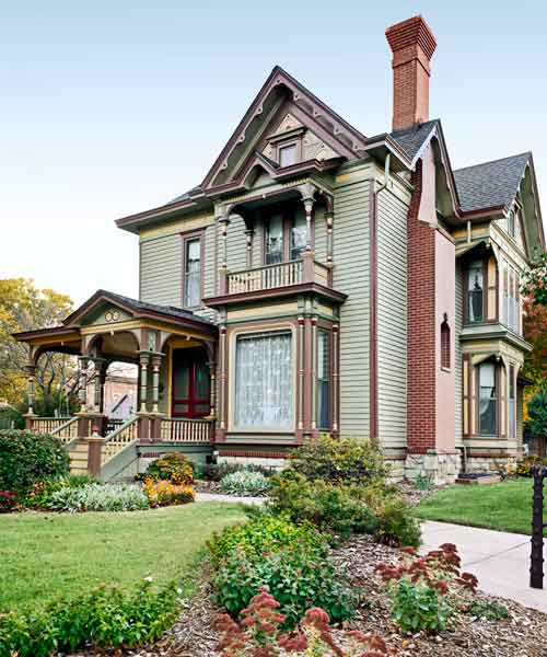 after gothic revival exterior, curb appeal before and after