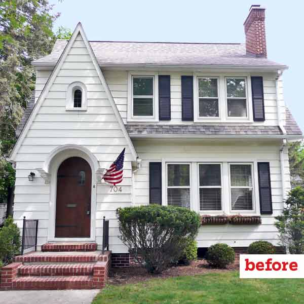 before english style cottage exterior, curb appeal before and after