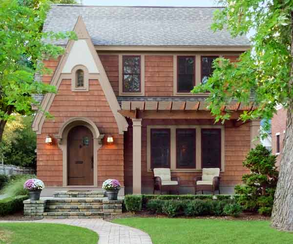 after english style cottage exterior, curb appeal before and after