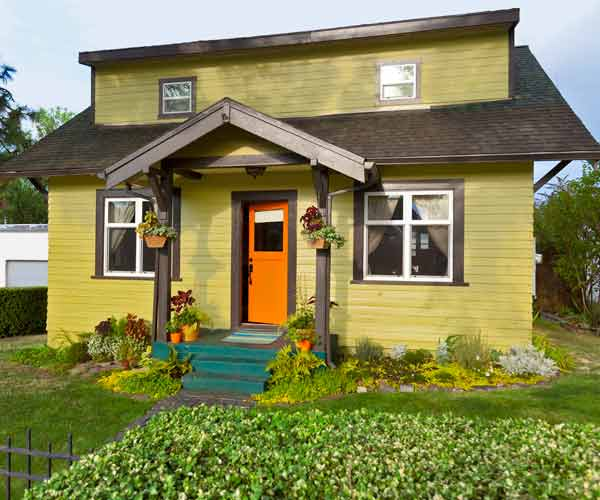 after of bungalow exterior, curb appeal before and after