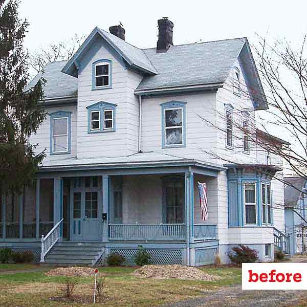 before of folk victorian exterior, curb appeal before and after