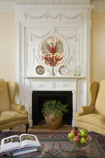 ornate traditional fireplace in living area, april fast fixes easy upgrades