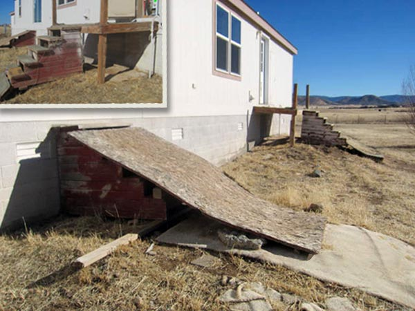 floating stairs and deck as part of This Old House's Home Inspection Nightmares 30