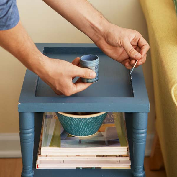 touching up paint on a piece of furniture with a toothpick, 10 uses for toothpicks