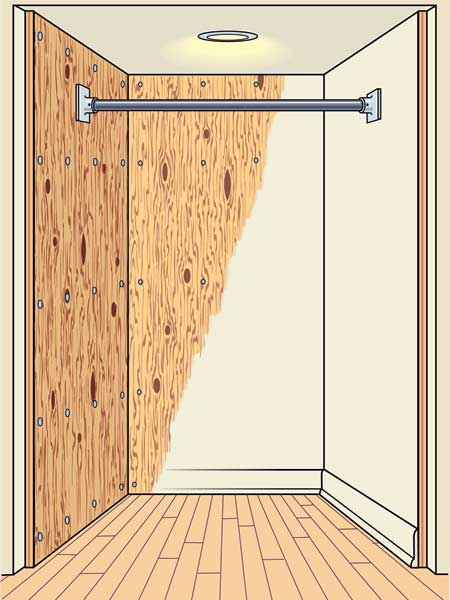 Closet DIY Tricks and Tools: The Plywood Solution to redo your bedroom closet