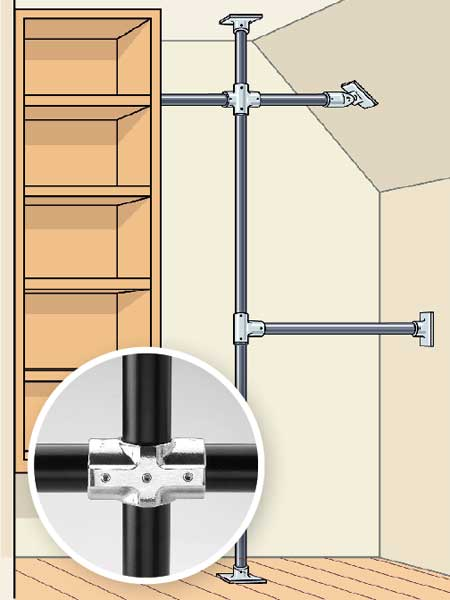 Closet DIY Tricks and Tools: Industrial Pipe, With a Twist to redo your bedroom closet