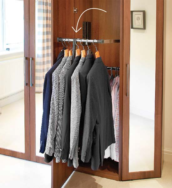 No Ladder Needed storage solution when planning to redo your bedroom closet