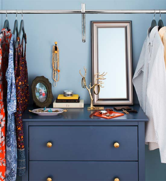 Repurpose a Chest when planning to redo your bedroom closet