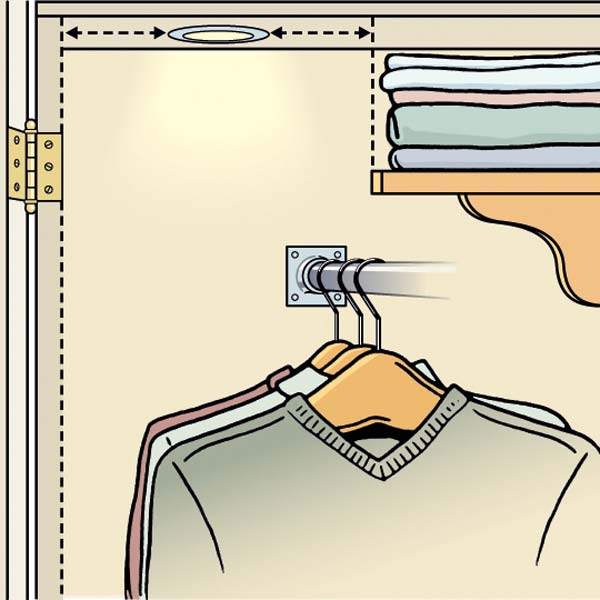 No Bare Bulbs, Please! when planning to redo your bedroom closet