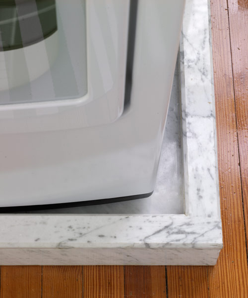 Carrara Marble Washer Drain Pretty And Practical Laundry