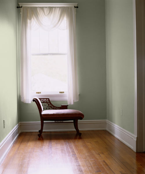 Ash Green Paint ~ Serene hallway color of the month may hemlock