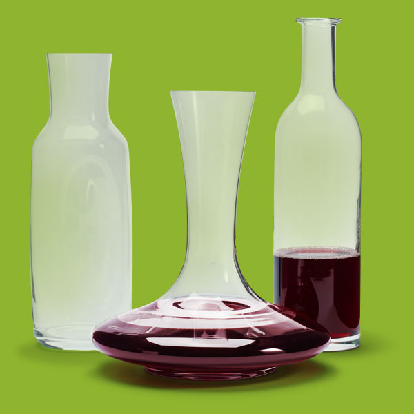 glass decanters create a holiday ready farmhouse dining room this