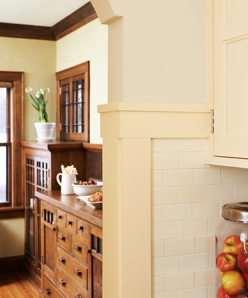 flat casing to match original trim, kitchen before and after remodel