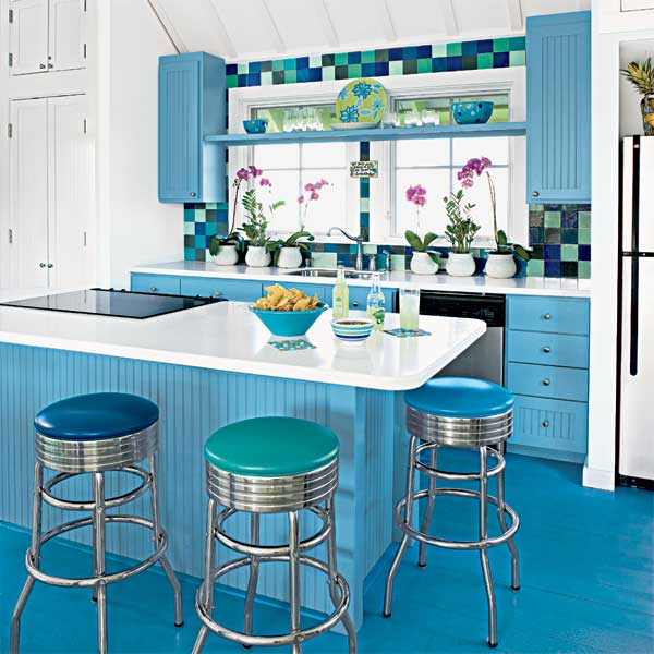 Old-School Stools as an example of a creative kitchen upgrade